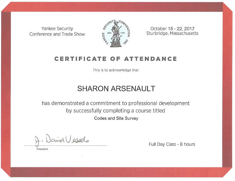 Code Class Certificate Sharon