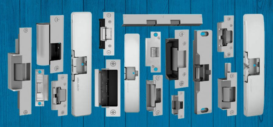 Various electric strike plates for doors